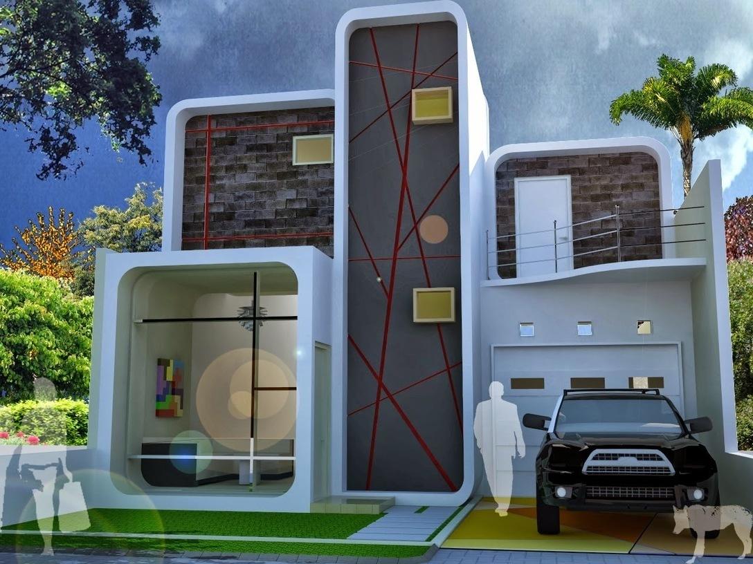 Tampak Depan Rumah Minimalis 2 Lantai Lebar 6 M
