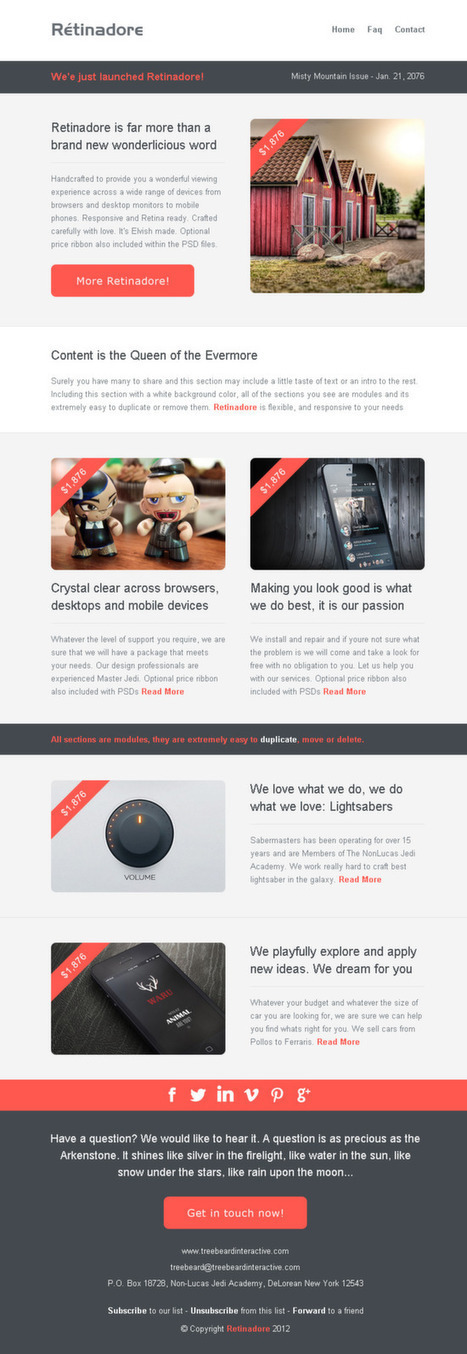 Inspiring Email Newsletter Templates Scoopit - Good newsletter templates