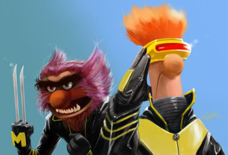 "Fan art mashup of the day: ""X-Muppets"" by Rahzzah ... 