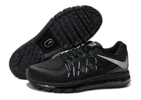 premium selection 949c6 935b6 Wholesale Nike Air Max 2015 Men Black Silver Shoes Hot Sale -  78.00