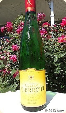 Toledo Wines and Vines: Lucien Albrecht 2012 Riesling Reserve, Alsace | Epicure : Vins, gastronomie et belles choses | Scoop.it