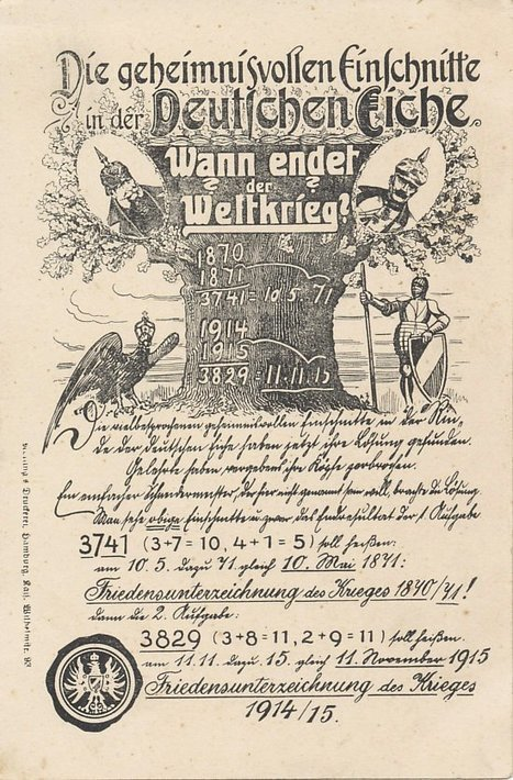La fin de la guerre était mathématiquement prévue le 11 novembre 1915 ! | Epic pics | Scoop.it