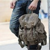 Cool canvas backpack with leather buckle strap | personalized canvas messenger bags and backpack | Scoop.it