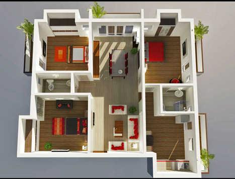 Desain Rumah Minimalis Sederhana 1 Lantai 3 Kam