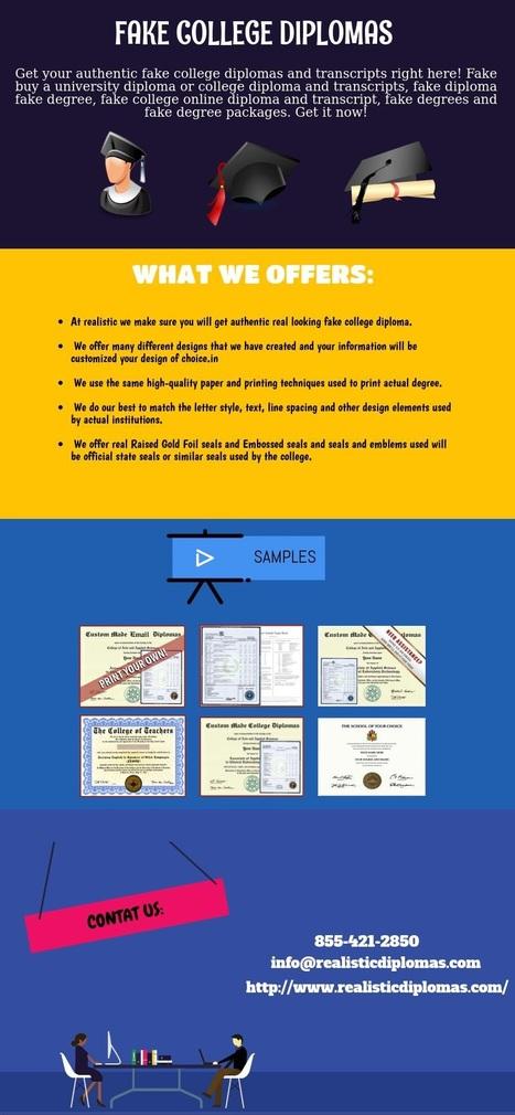 get fake collge diplomas online visually