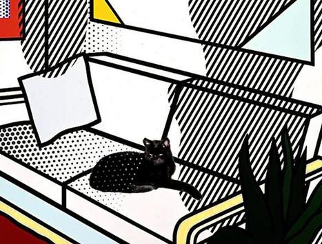 Roy Lichtenstein's Black Cat Art Prints | Cat Art | Scoop.it