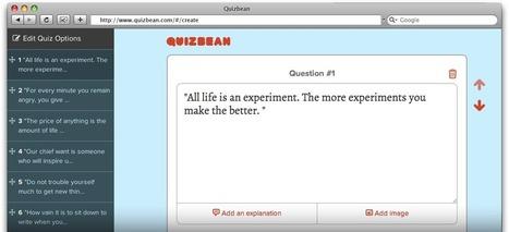 QuizBean | Crear rápidamente exámenes en línea para libre | Herramientas web para contar historias - storytelling | Scoop.it