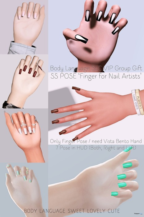 Finger Pose For Nail Artists Group Gift by Body Language Sweet Lovely Cute | Teleport Hub - Second Life Freebies | Second Life Freebies | Scoop.it