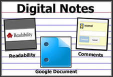 Digital Notes: Combine Readability with GoogleDocs | CCSS for Teachers | Scoop.it