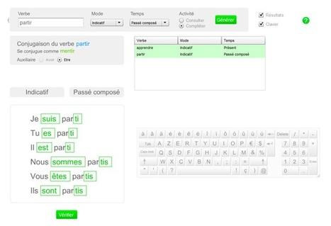 Conjugueur interactif | Enlettrées | Scoop.it