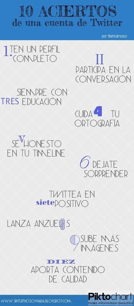 10 aciertos de una cuenta de Twitter #infografia #infographic #socialmedia   Blogs en comunidad   Scoop.it