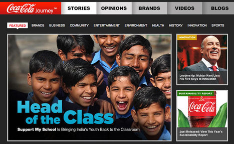 Storytelling or Advertorial? The New Coca-Cola Corporate Website | Movin' Ahead | Scoop.it