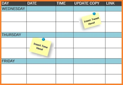 Free Template: The Social Media Publishing Schedule | The Perfect Storm Team | Scoop.it