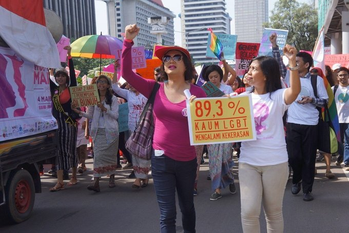 Indonesian Women's March: When women and LGBT people unite
