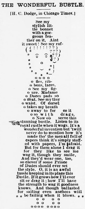 Visual poem by H.C Dodge, 1893. See the full page here.... | ASCII Art | Scoop.it