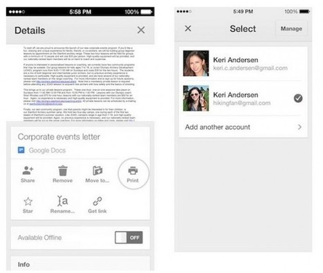 Google Drive for iOS Update Adds Support for Multiple Accounts | Educational Technology - Yeshiva Edition | Scoop.it