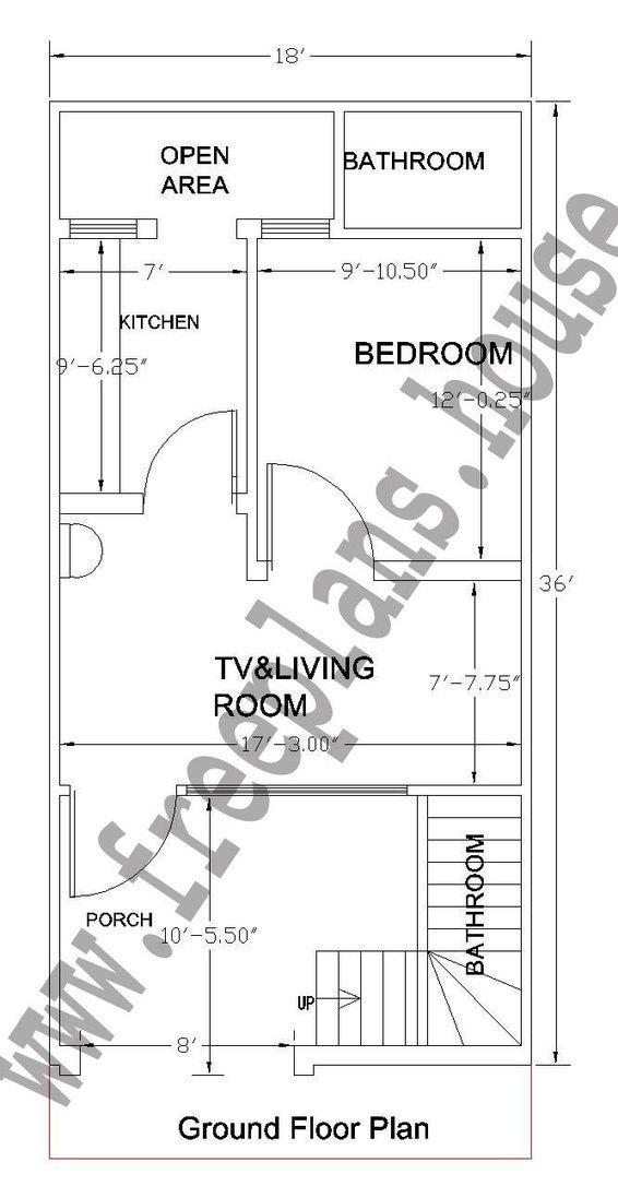 18 36 Feet 60 Square Meter House Plan