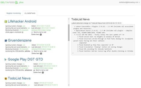 deltafeed - webpage monitoring | Gestion de l'information | Scoop.it