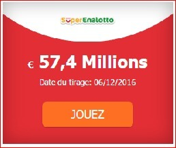 57 400 000 &euro; au #SuperEnalotto #SuperStar<br/><br/>Tirage Mardi 06-12 | Pariez avec ASTROQUINTE | Scoop.it
