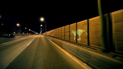 Golden Tiger - Moving projection on the streets of Paris by @le3paris | Digital Fuel | Scoop.it