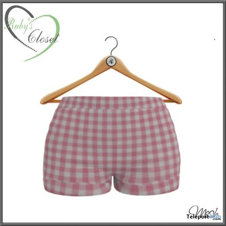 Pink Plaid Pull Up Shorts Teleport Hub Group Gift by Ruby s Closet  bfda5aa153f5d