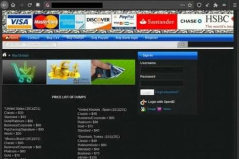 Le prix des données de cartes bancaires, PayPal et sécurité sociale sur le dark web ...