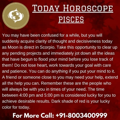 horoscope pisces today love