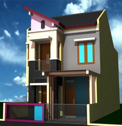 Desain Rumah Sederhana 2 Lantai Rumah Unik Mi