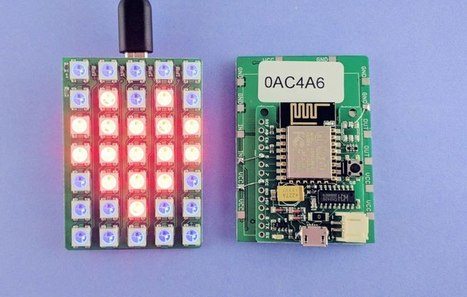Web Matrix Control Proves Power of ESP8266 | Arduino, Netduino, Rasperry Pi! | Scoop.it
