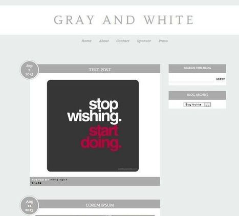 Free Blogger Theme - Gray and White - Fashion, Beauty etc | Blogger themes | Scoop.it