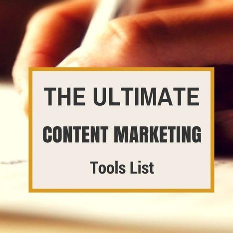 The Ultimate Content Marketing Tools List | Effective Inbound marketing practices | Scoop.it