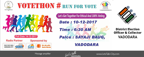 Votethon Run For Vote ~Vadodara 10th December