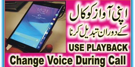 Amazing Voice Changer APP During Call Male to F