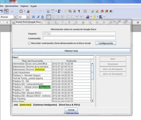 Gestiona fácilmente los documentos de Google Drive con LibreOffice « Omicrono | Recursos para la Diversidad educativa | Scoop.it