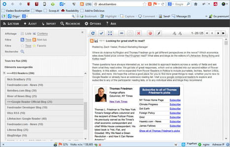 Lire les flux RSS sur Firefox avec le plugin Bamboo Feed Reader | François MAGNAN  Formateur Consultant | Scoop.it
