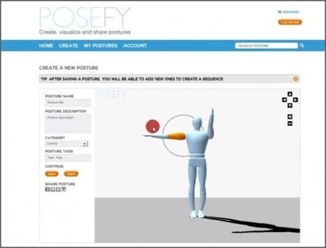 Posefy, para crear, visualizar y compartir posturas en 3D | Profesoronline | Scoop.it
