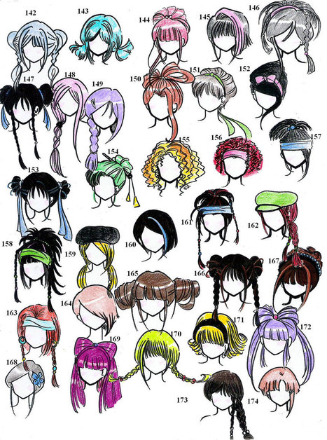 Hairstyles In Drawing References And Resources