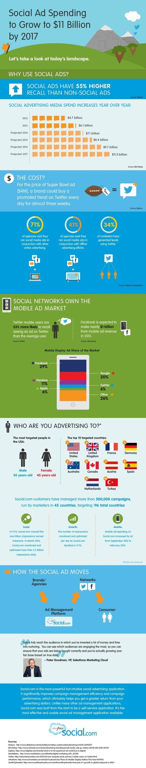 Guide to Social Media Advertising: Infographic | Aspiring Outliers | Scoop.it