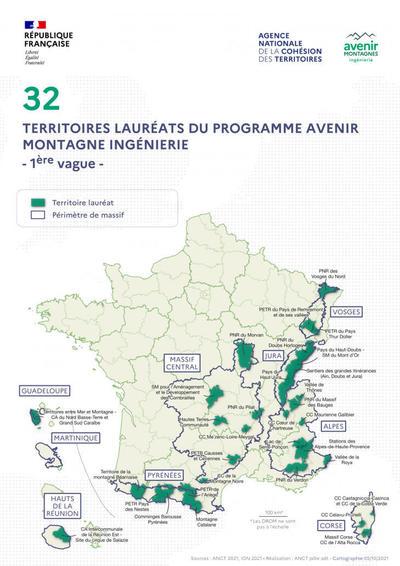 Joël Giraud annonce à l'occasion du Conseil national de la montagne, les 32 lauréats de la première vague de sélection des territoires d'Avenir Montagnes Ingénierie
