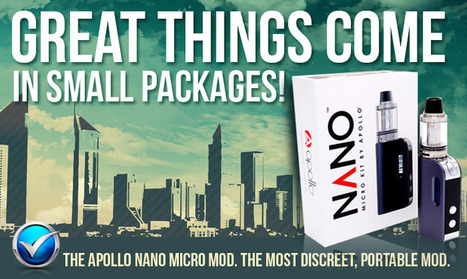 Apollo NANO Micro Vape Kit A Tiny TC Mod For Ch