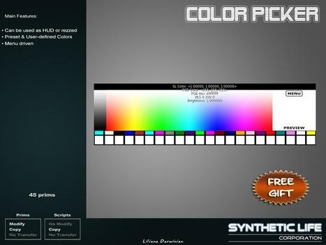 Color Picker HUD For Builder by SLC   Teleport Hub - Second Life Freebies   Second Life Freebies   Scoop.it