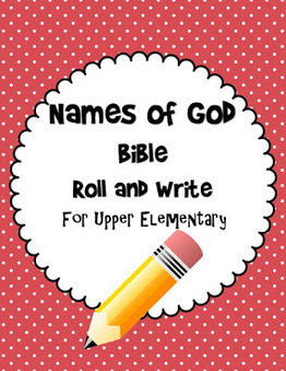 Bible Lessons for Kids: Names of God Bible Roll and Write Free Printable Game | Children's Ministry Ideas | Scoop.it