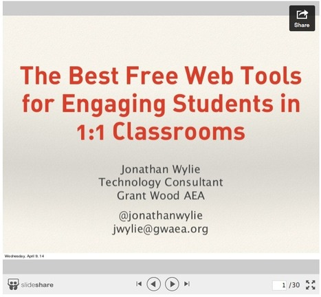 The Best Free Web Tools for Engaging Students in 1:1 Classrooms - Jonathan Wylie | Uppdrag : Skolbibliotek | Scoop.it