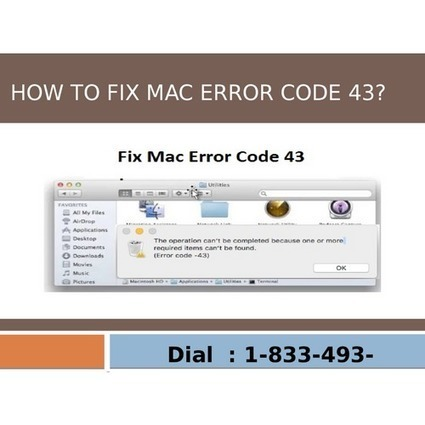 Fix Mac Error Code 43 | 1-833-493-0111 | Apple