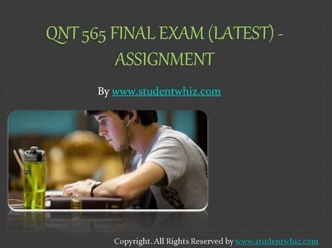 FIN 575 Week 3 Project Proposal | University of Phoenix Courses | Scoop.it
