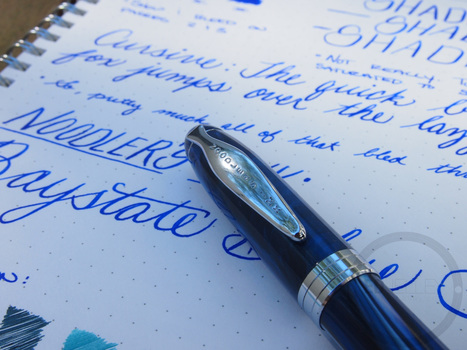 Noodler's Baystate Blue - Ink Review | Writing instruments | Scoop.it