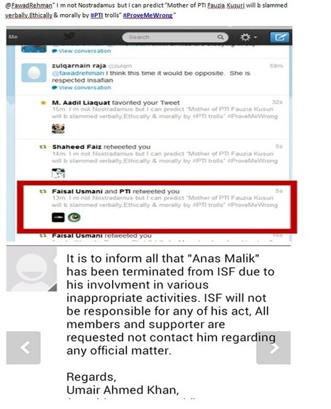 "Twitter / fawadrehman: #PTI social media chief ""Anas ... | Social Media Article Sharing | Scoop.it"