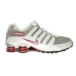 f5064858ce51 Nike Shox NZ Men s Shoes White Metallic Silver-Sport Red-Clay Grey  378341-104