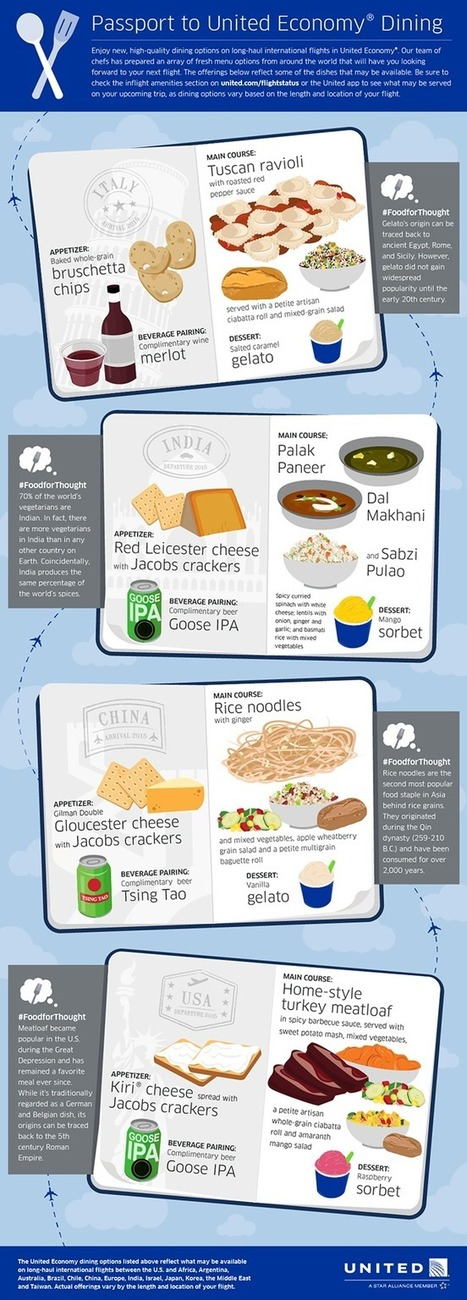 Passport to United Economy® Dining | Visually | Inspirational Infographics | Scoop.it