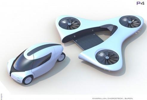 transports du futur 1 la voiture volante fra. Black Bedroom Furniture Sets. Home Design Ideas